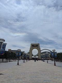 虹かかった空の写真・画像素材[3471993]