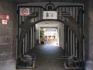 建物の入口の写真・画像素材[3157023]