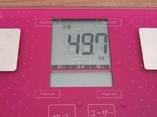 体重計のクローズアップの写真・画像素材[2894841]