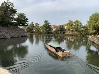 松江城のお堀の写真・画像素材[2757721]