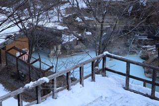 冬の白骨温泉 泡の湯の写真・画像素材[2923567]