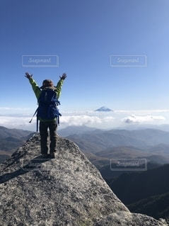 富士山と僕の写真・画像素材[2762181]