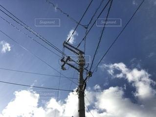 青空と電柱の写真・画像素材[2766865]