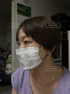 ハンカチマスクの写真・画像素材[3009708]