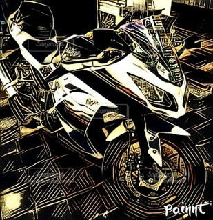 オートバイのクローズアップの写真・画像素材[2765204]