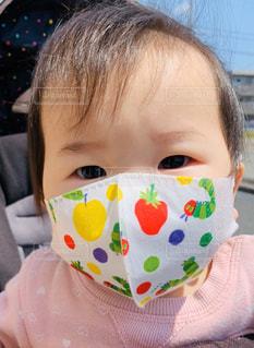 子供のマスクの写真・画像素材[3171522]