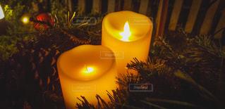 クリスマスキャンドルの写真・画像素材[2790827]