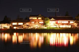 夜の桜祭りへの写真・画像素材[2856366]