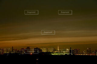 若洲海浜公園からの東京タワーへの眺めの写真・画像素材[2862963]