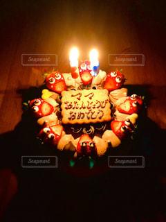 年に一度の誕生日!やっぱりケーキ(^-^)の写真・画像素材[3134301]