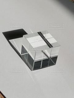キューブ硝子1の写真・画像素材[4090930]
