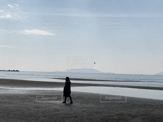 干潟を歩くの写真・画像素材[2941398]