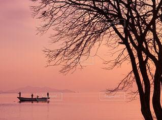 琵琶湖の夕暮れの写真・画像素材[2891983]
