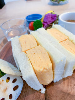 卵焼きのサンドイッチの写真・画像素材[2895445]