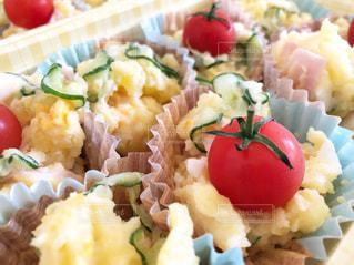 ポテトサラダのクローズアップの写真・画像素材[2819824]