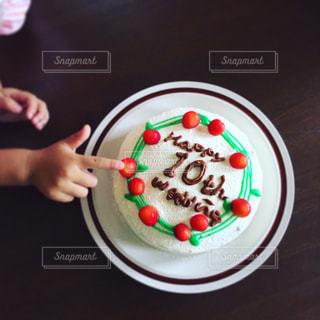 結婚10周年おめでとうケーキの写真・画像素材[2820465]