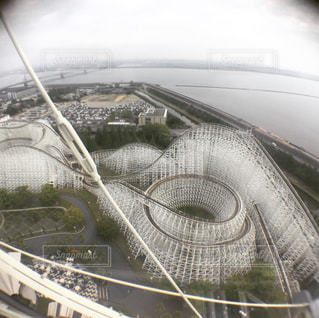 白い台風の写真・画像素材[951237]