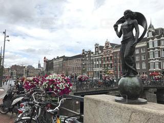 花の街。アムステルダムの写真・画像素材[714134]