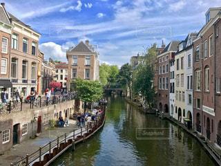 アムステルダムの美しい街並みの写真・画像素材[714182]