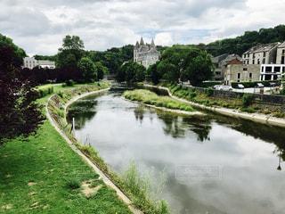 川と城の写真・画像素材[714291]