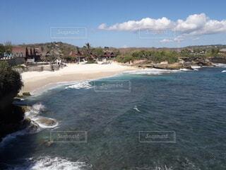 レンボンガン島のドリームビーチの写真・画像素材[3830565]