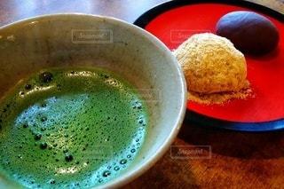 お抹茶と和菓子の写真・画像素材[2847088]