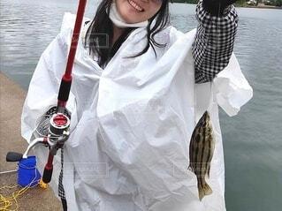 海釣りにての写真・画像素材[3811137]