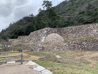 鳥取城 天球丸石垣の写真・画像素材[2837764]