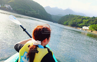 屋久島でボートを漕ぐ!の写真・画像素材[1292696]