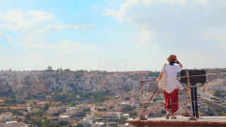 カッパドキアの町を見渡しての写真・画像素材[1328204]
