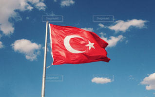 トルコ国旗の写真・画像素材[1328205]
