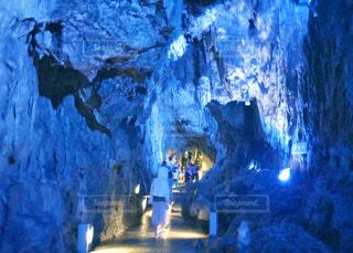 龍泉洞にての写真・画像素材[1395246]