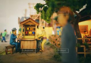 昭和の町夕暮れの写真・画像素材[1403445]