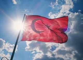 トルコ国旗の写真・画像素材[1403449]