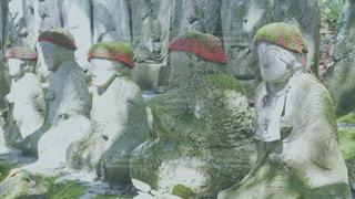 苔地蔵の写真・画像素材[1456784]