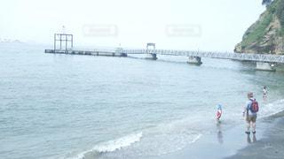 猿島の桟橋の写真・画像素材[1465582]