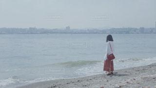 猿島の浜辺にての写真・画像素材[1465583]