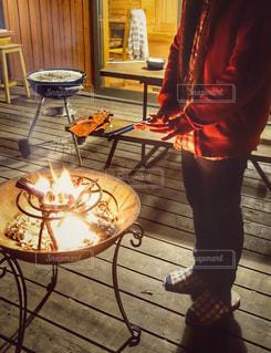 焚き火の写真・画像素材[1650223]