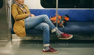 電車内にての写真・画像素材[1650976]