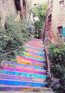 カラフル階段の写真・画像素材[1652362]