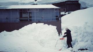 雪かきの写真・画像素材[1766834]