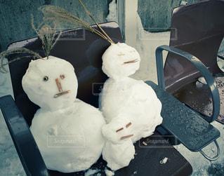 雪だるまの家族の写真・画像素材[1766882]