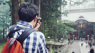 秩父三峰神社にての写真・画像素材[2766574]