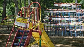 緊急事態宣言中の公園の写真・画像素材[3132438]
