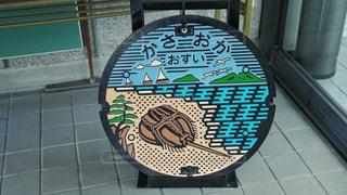 笠岡のマンホールの写真・画像素材[3132683]
