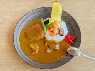 三島コロッケのカレーの写真・画像素材[3165339]