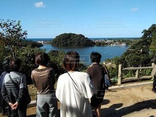 吉崎御坊跡地から北潟湖を見るの写真・画像素材[2906579]