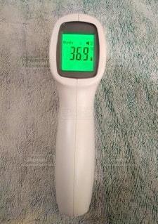 非接触型体温計の写真・画像素材[3513356]