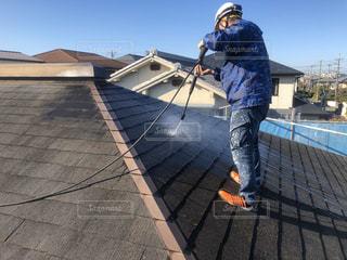 屋根塗装 高圧洗浄 屋根塗り替えの写真・画像素材[2893149]