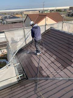 高圧洗浄 屋根水洗いの写真・画像素材[3980759]
